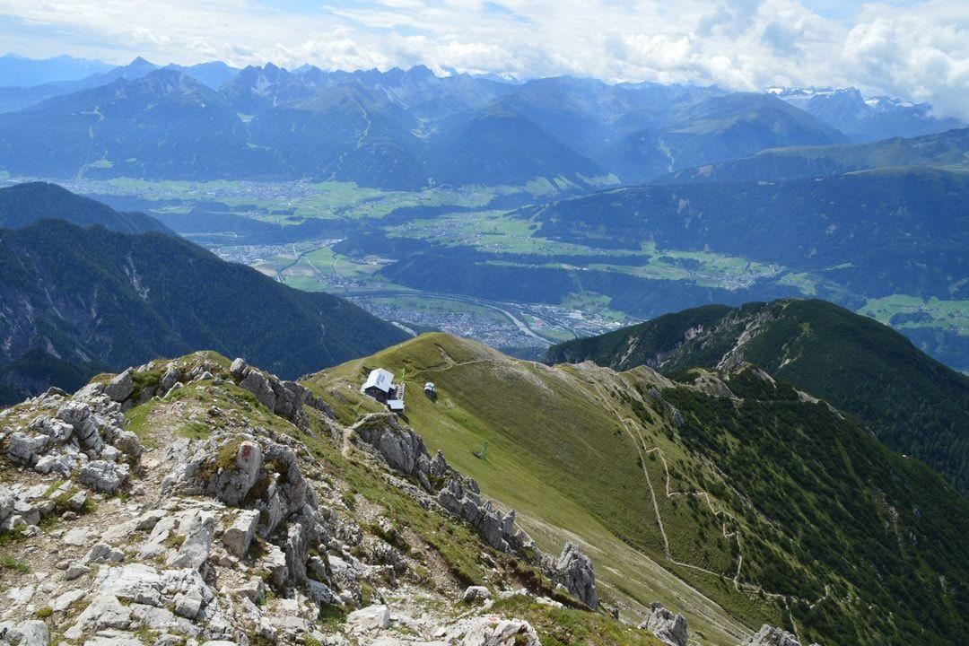 Blick von Reither Spitze auf Nördlinger Hütte