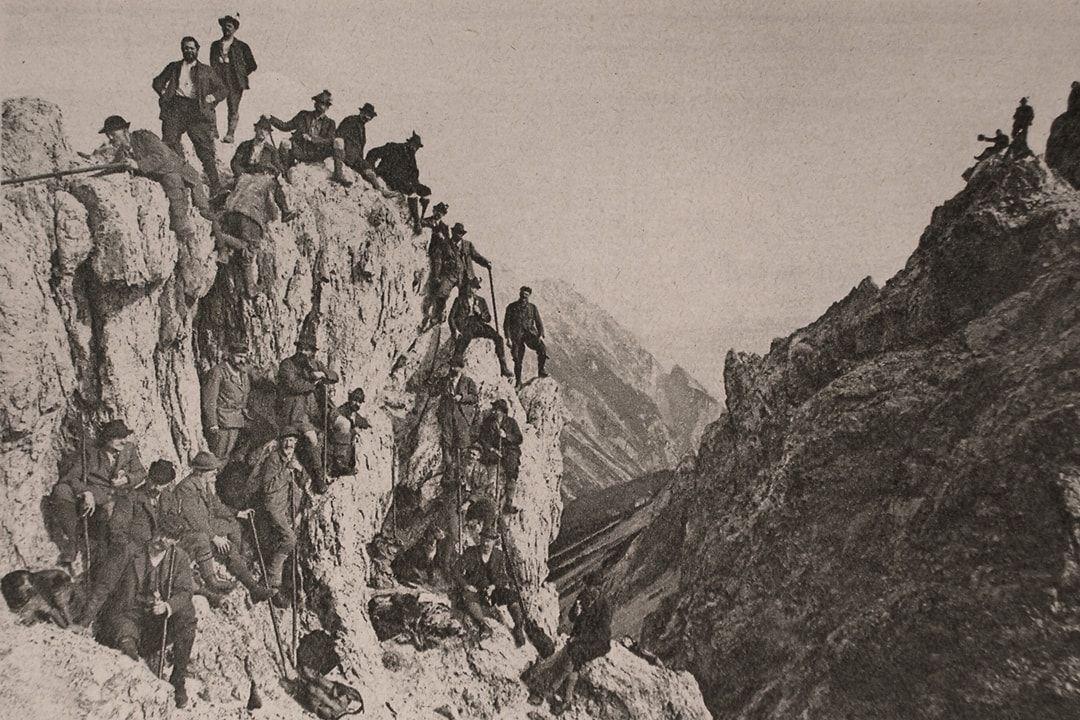 Wilde Bande am Stempeljoch Pfeishütte Bettelwurfhütte